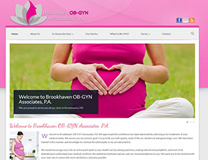 Brookhaven OB-GYN (Website Designed 2013)