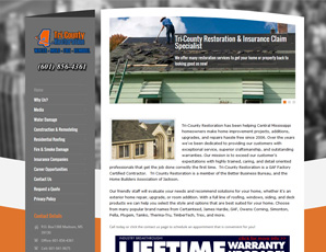 Tri-County Restoration (Website Designed 2014)